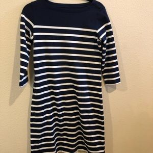 LL Bean Breton striped dress
